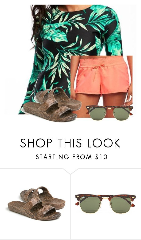 """""""What I want for summer """" by flroasburn ❤ liked on Polyvore featuring Ray-Ban"""