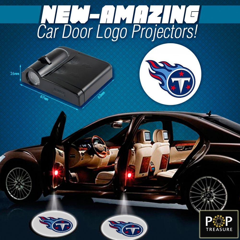 2 NFL Tennessee Titans Wireless LED Car Door Projectors