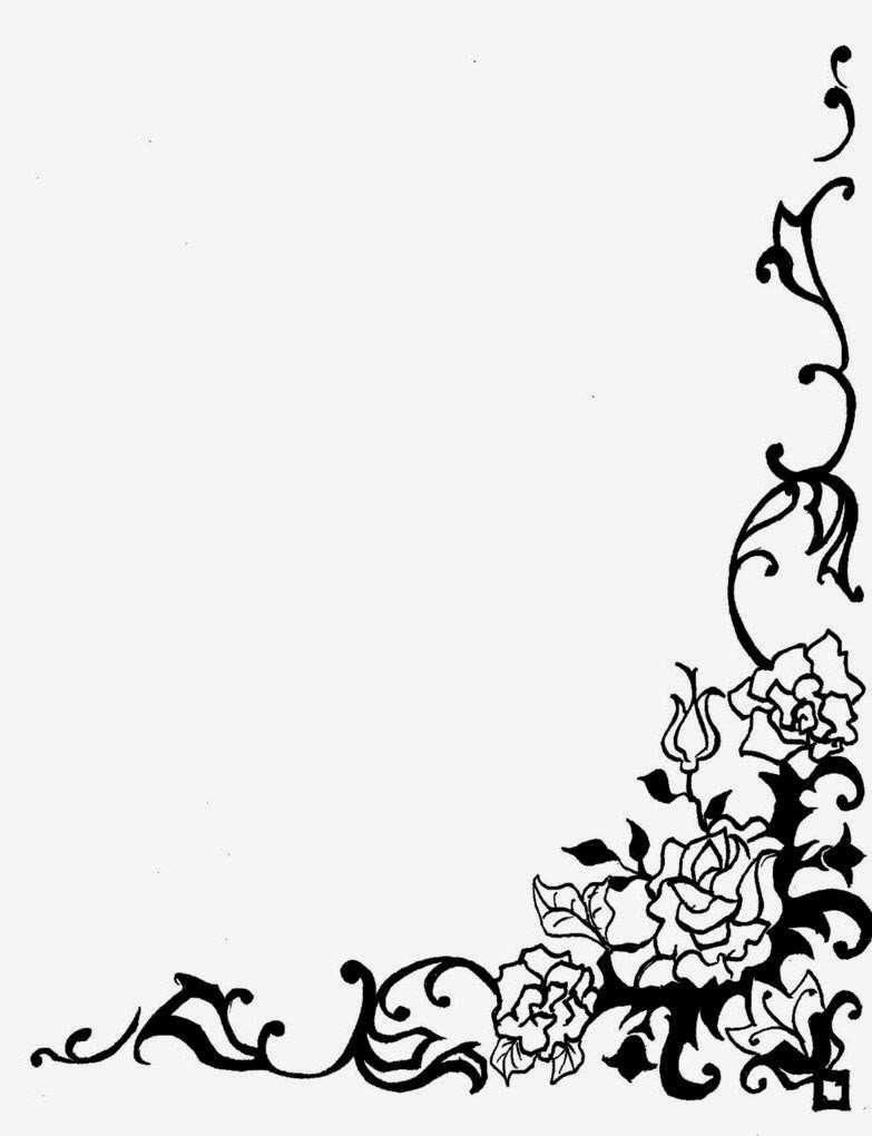 Bingkai Undangan Vector Hd   Bingkai bunga, Lukisan bunga, Desain ...