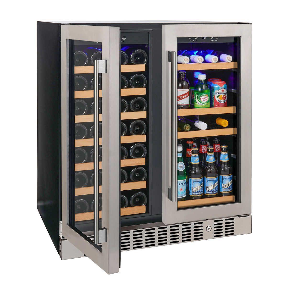 Chillmax Bar Beer Wine Fridge 2 Door Black 198l Glass Door Rrp 1299 New 2015