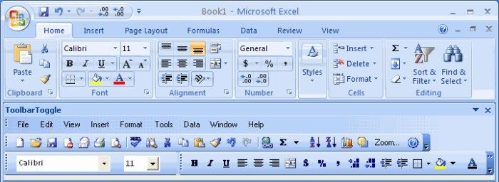 ms office toolbar icons