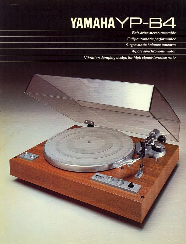 Vintage audio Yamaha turntable