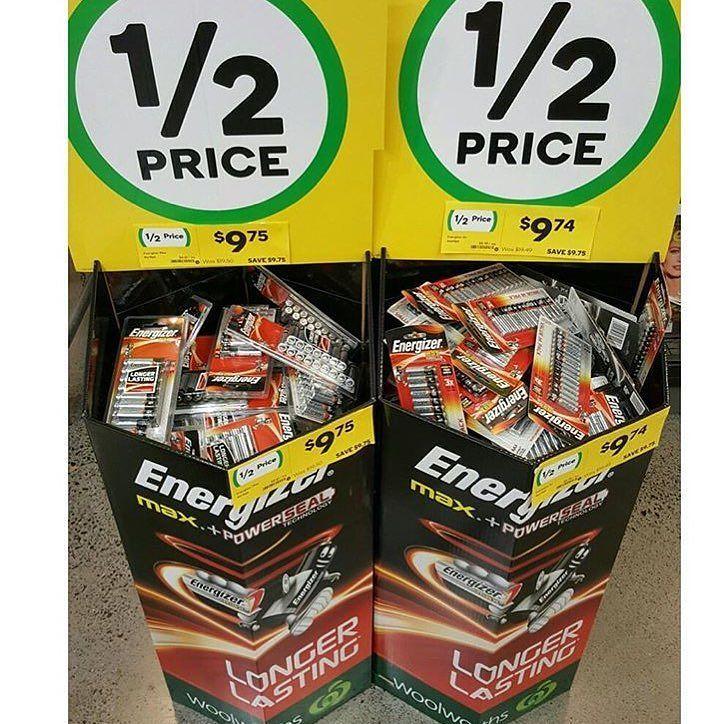 Aaa Aa Energiser Max Batteries Are Halfprice This Week At Woolworths Until 20 9 16 Bargainmumau Aabatteries Aaaba Half Price Bargaining Savers