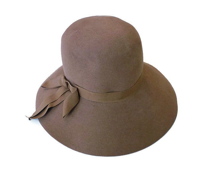 Original by Dayne, Wool Hat, Cloche Vagabond, Cognac Brown, Ritz, Michael Pollak, New York, Vintage Fashion Accessory