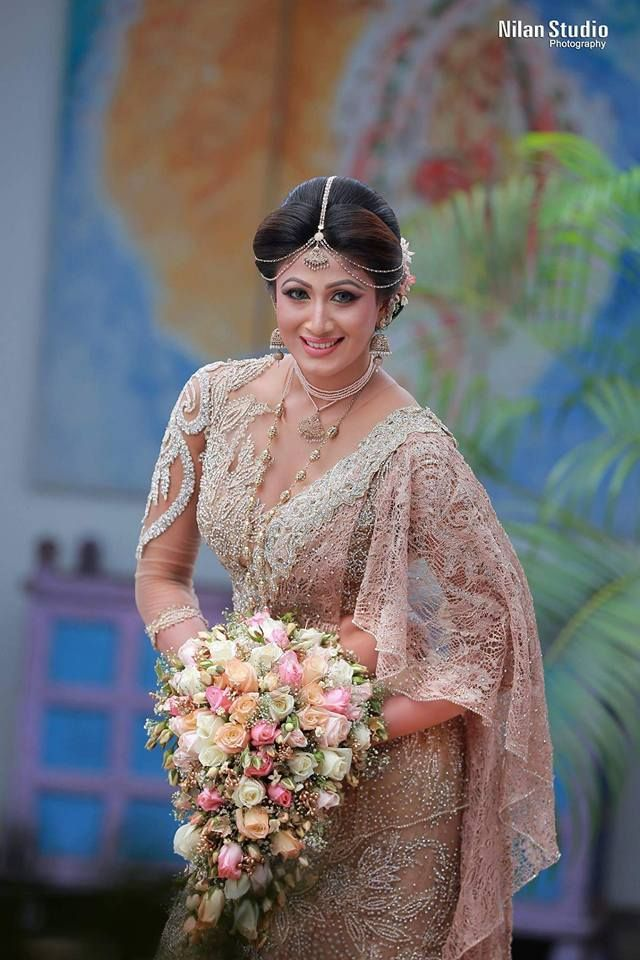 Modern Kandiyan Bridal For Sasani By Salon Bonitha Bridal Saree Bridesmaid Saree Bridal Sari