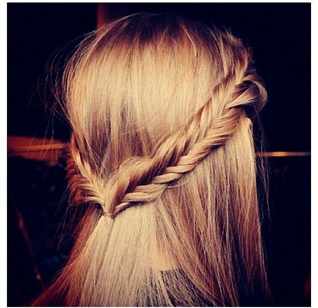 fishtails & straight hair <3