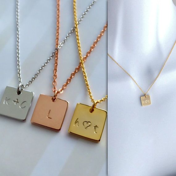 Rose Gold Silver Initial Necklace / Couples Necklace / Personalized Necklace / Mom Sister Grandma Gift / Gift For Her / Bridesmaid Gift