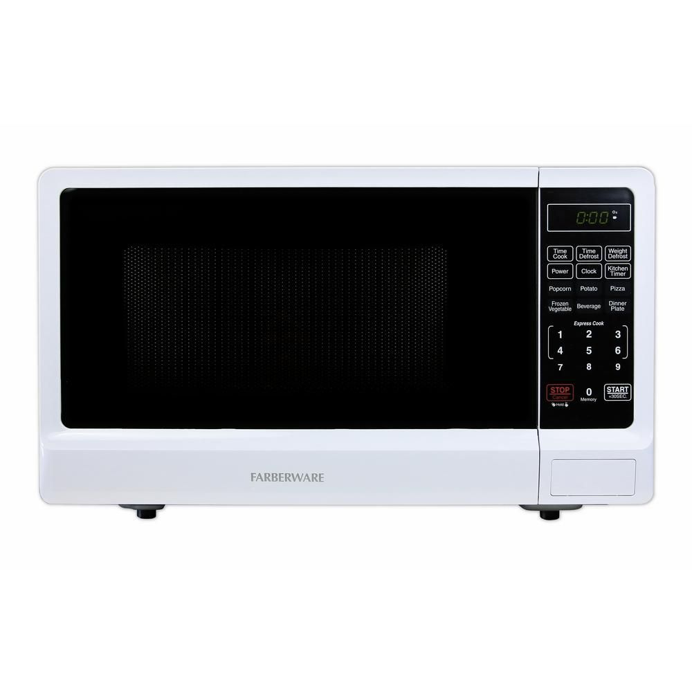 Farberware Classic 1 1 Cu Ft 1000 Watt Countertop Microwave Oven In White With Images Countertop Microwave Oven Microwave Oven Microwave