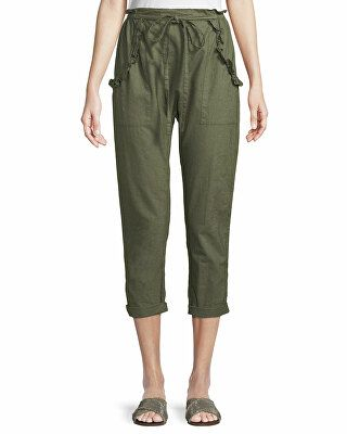 f56b0486a The Great Designer The Tulip Linen-Cotton Cropped Pants | Clothing ...