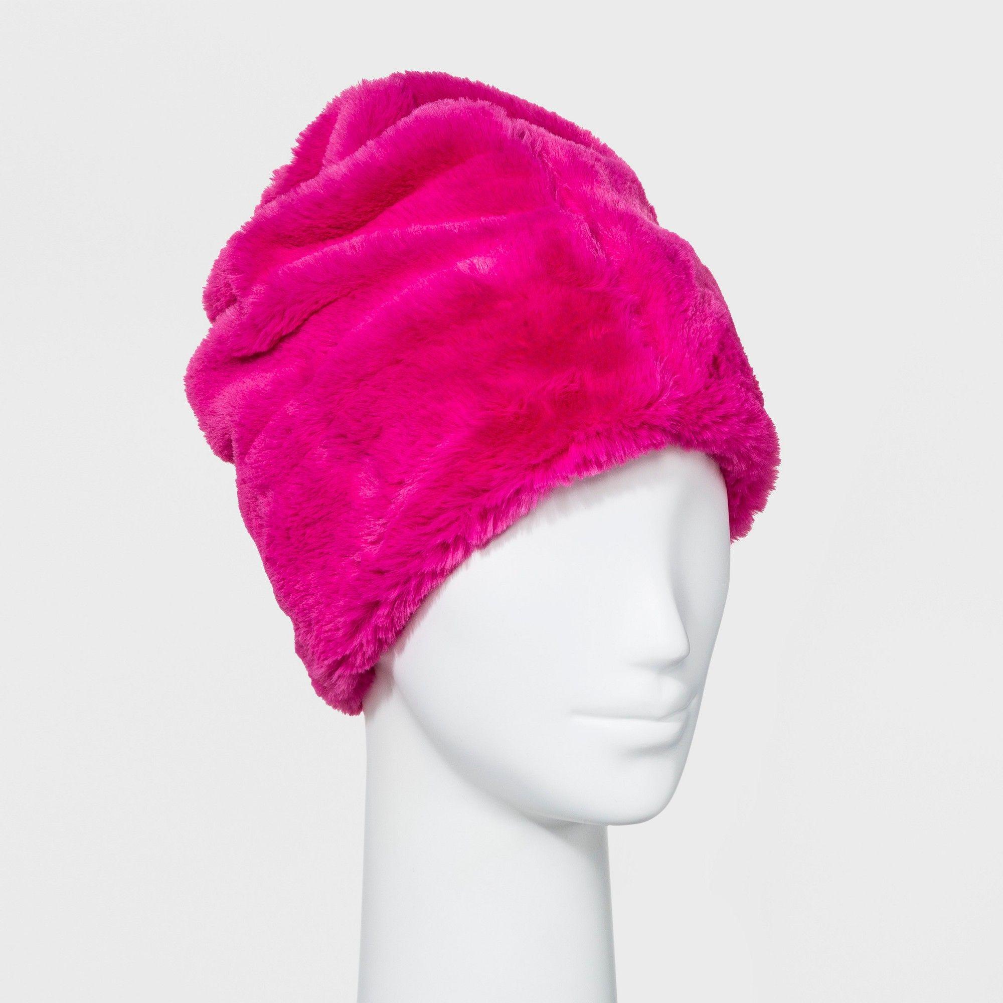 8f1647e01d3e Women s Faux Fur Beanie - Wild Fable Pink