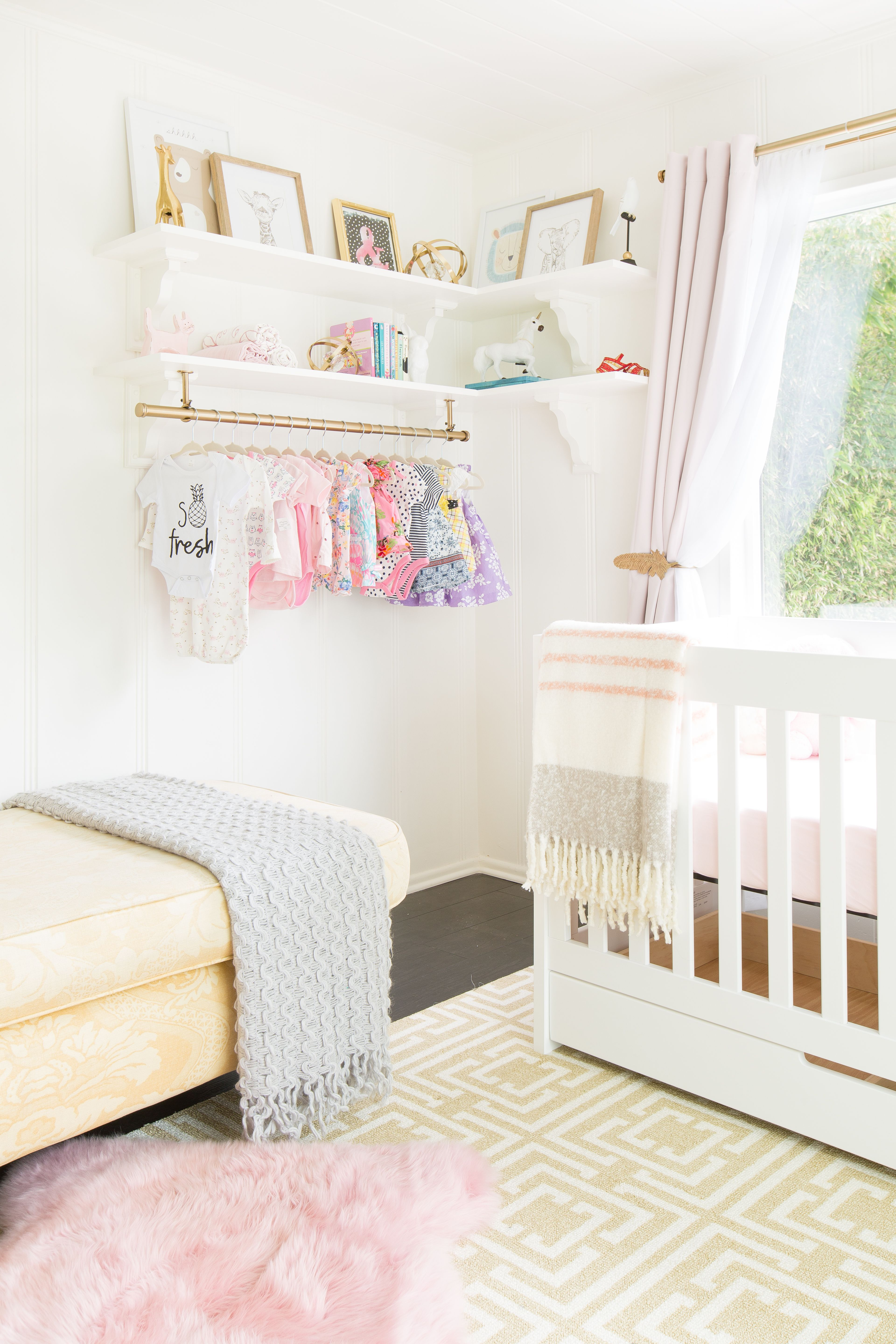 A Girly Glam Nursery With MustSee Floral Wallpaper Baby
