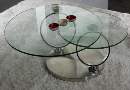 Table Basse Ronde En Verre Socle Inox Meuble En Choisir Le Bois Massif Mobilier De Salon Table Basse Ronde En Verre Meuble Bois