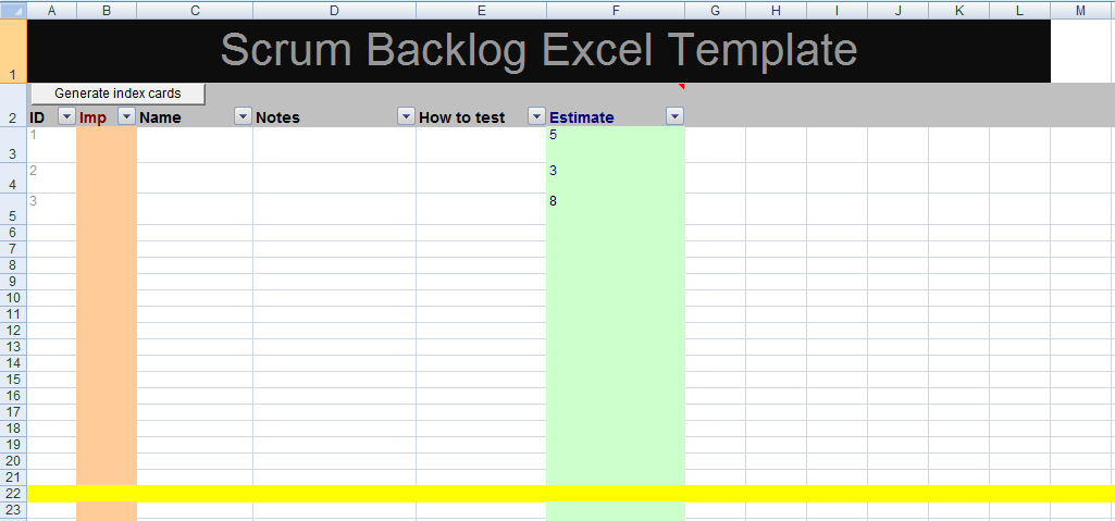 Get Scrum Backlog Excel Template XLS     Project Management Templates     Get Scrum Backlog Excel Template XLS     Project Management Templates and  Certification