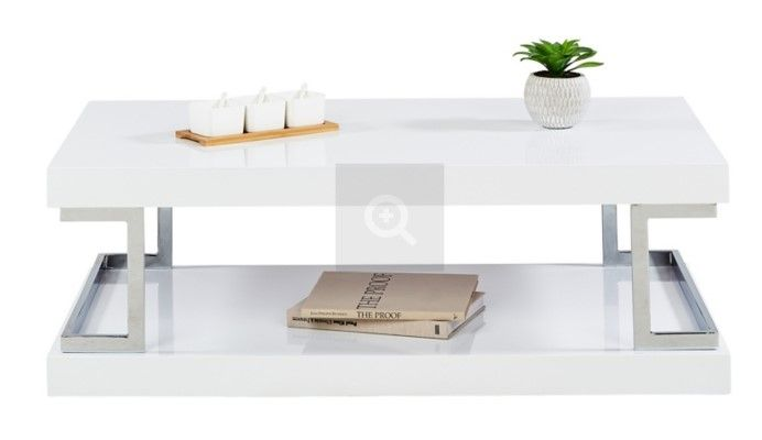 Table Basse Celia 3 Blanc Laque Et Chrome Pas Cher Table Basse But Iziva Com Table Basse Table Basse Rectangulaire Table Basse Blanche