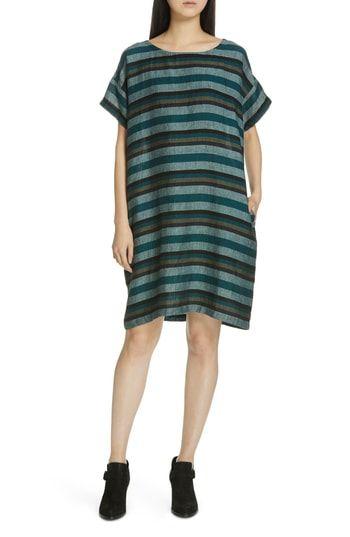 fcf842f9d27d New Eileen Fisher Stripe Linen Shift Dress. womens dresses [$248] from top  store allshoppingideas