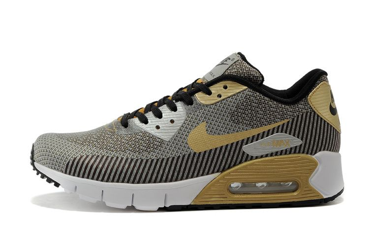 brand new 6dac6 2141e Men s sneakers Nike Air Max 90 Jacquard gray   gold