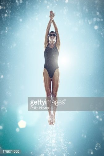 Stock Photo : female swimmer under water