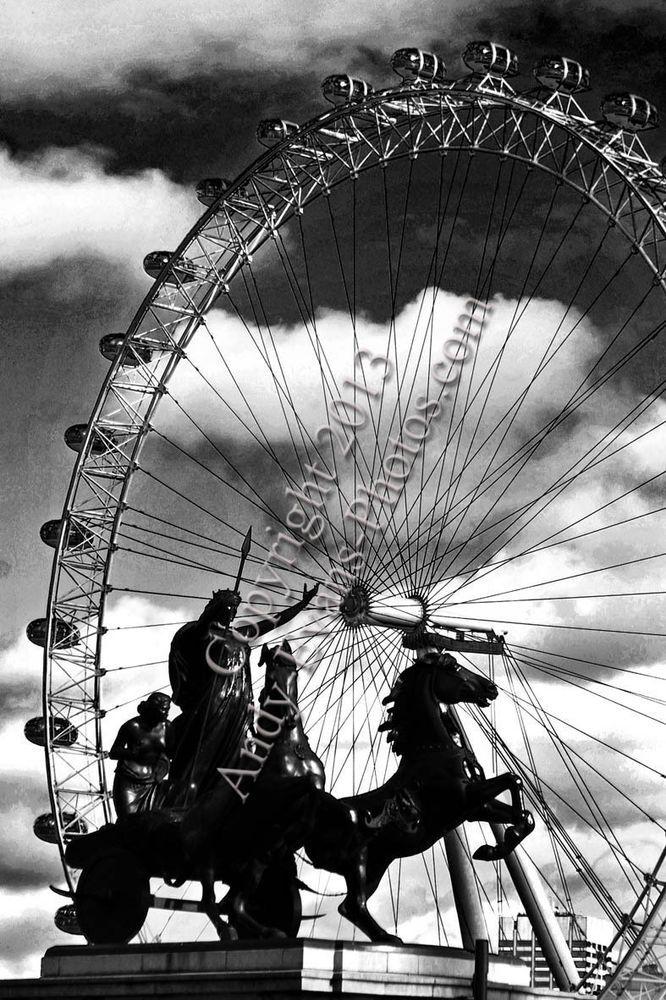 The London Eye; London, England, United Kingdom photograph print picture by AEP #londoneye