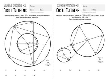 Circle Theorems - Angle Puzzles | HS Geometry | Circle theorems