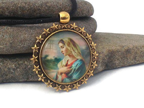 Mary magdalene gold star pendant sacred feminine christian mary magdalene gold star pendant sacred feminine christian mozeypictures Gallery