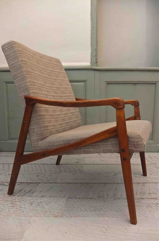 Slavia Vintage fauteuil Borgen années 50 style scandinave ...
