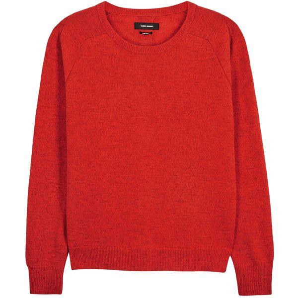daa3cf6f0b Isabel Marant Clash red split-back jumper (14 805 UAH) ❤ liked on ...