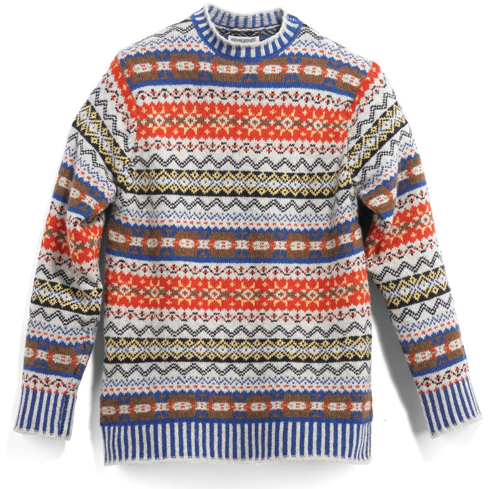08d41d99b The Genuine Scottish Fair Isle Sweater - Hammacher Schlemmer ...