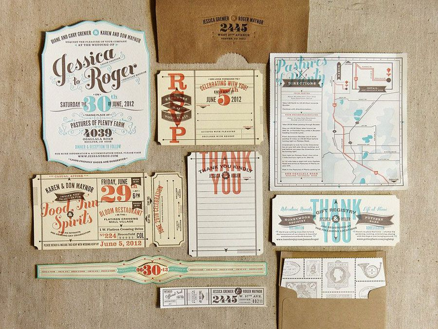 Arrangealign love love love these letterpress type tuesday check out these vintage travel inspired wedding invitations perfect for a travel theme solutioingenieria Choice Image