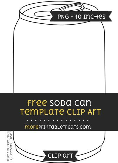 free soda can template clipart clipart files pinterest soda