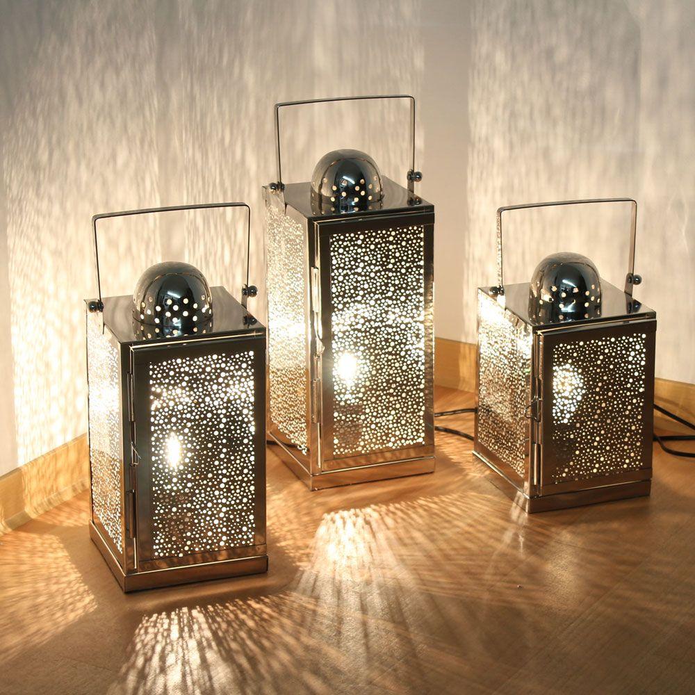Edelstahl Lampe Asra Inkl Elektrik 3 Grossen Orientalische