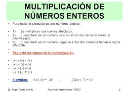 División Exacta De Números Enteros Buscar Con Google Numeros Enteros Multiplicacion Matematicas