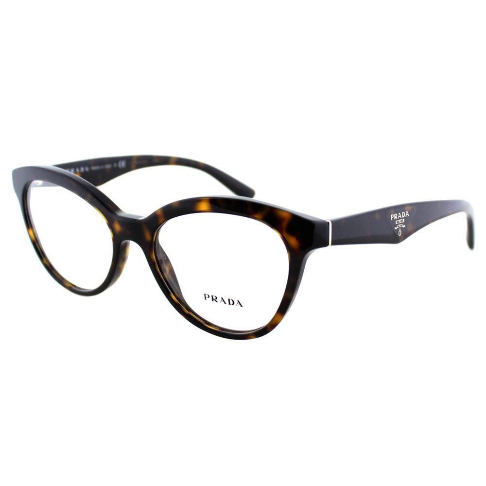 fbb9b2beb08e3 Prada Women s PR 11RV 2AU1O1 Havana Cat Eye 52mm Eyeglasses