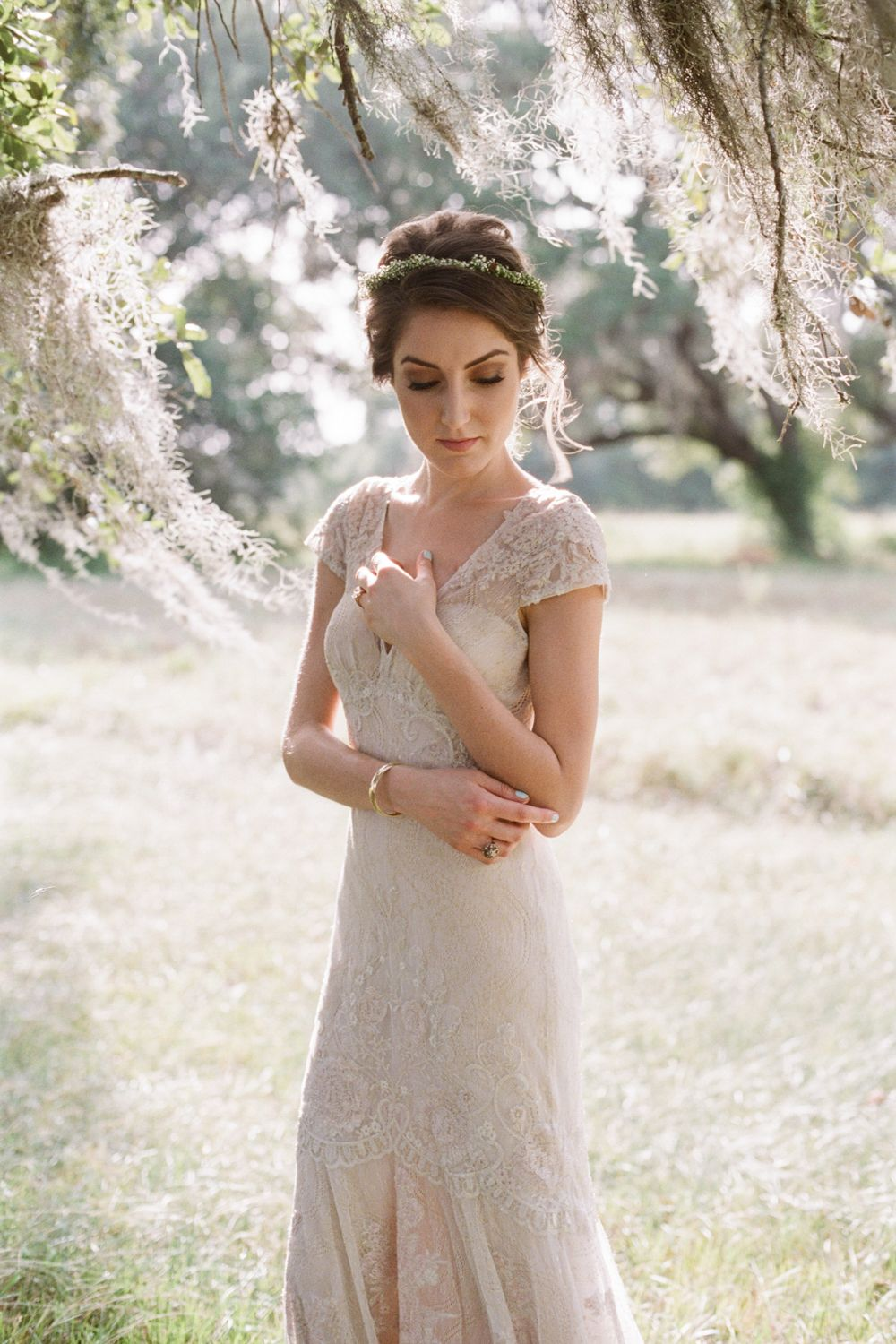 heirloom bridal session under spanish moss | houston wedding