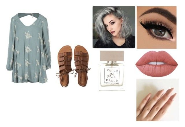 """""""Monday"""" by isabellasmall on Polyvore featuring Free People, Aéropostale, Lime Crime and Bella Freud"""