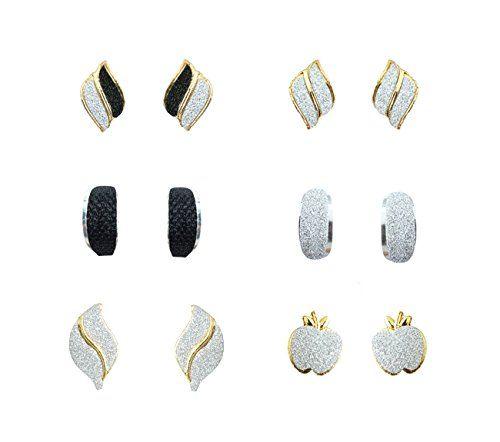 Waama Jewels Six Beautiful Studs Combination For Daily Wear, Office Wear, Party Wear, Best Selling Combo Earrings