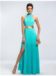 Pleated Halter Gown, Sizes 2-26W | ElegantPlus.com Editor's Pick
