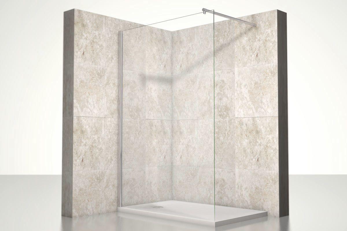 Begehbare Dusche Leo Hohe 190cm Duschwand Duschabtrennung Duschkabine