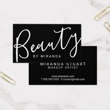 Professional modern black and white makeup artist business card professional modern black and white makeup artist business card colourmoves