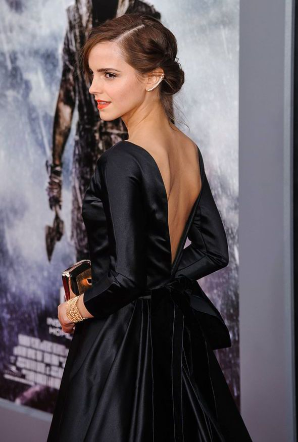 Emma Watson wows at New York premiere of Noah in a stunning backless ...