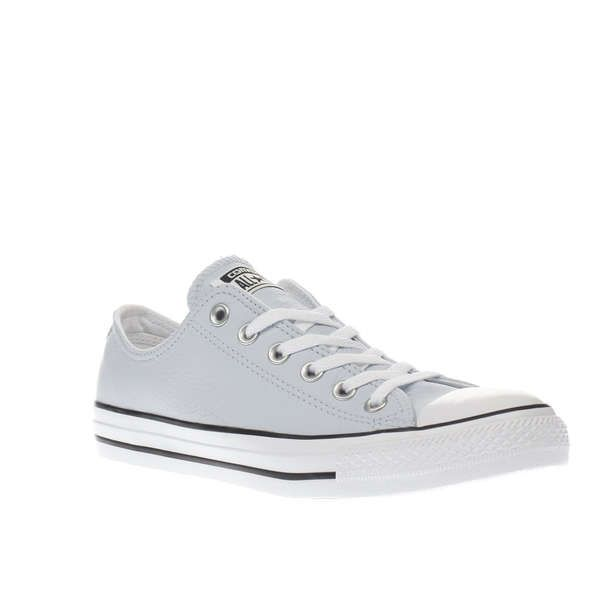 Womens Pale Blue Converse Chuck Taylor Leather Ox Trainers  0f79adf42