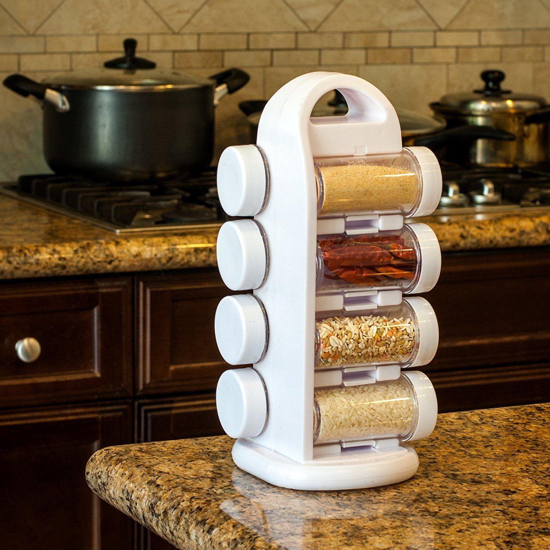 Adorox Revolving E Rack Tower Kitchen Utensils Seasonings Storage Organization