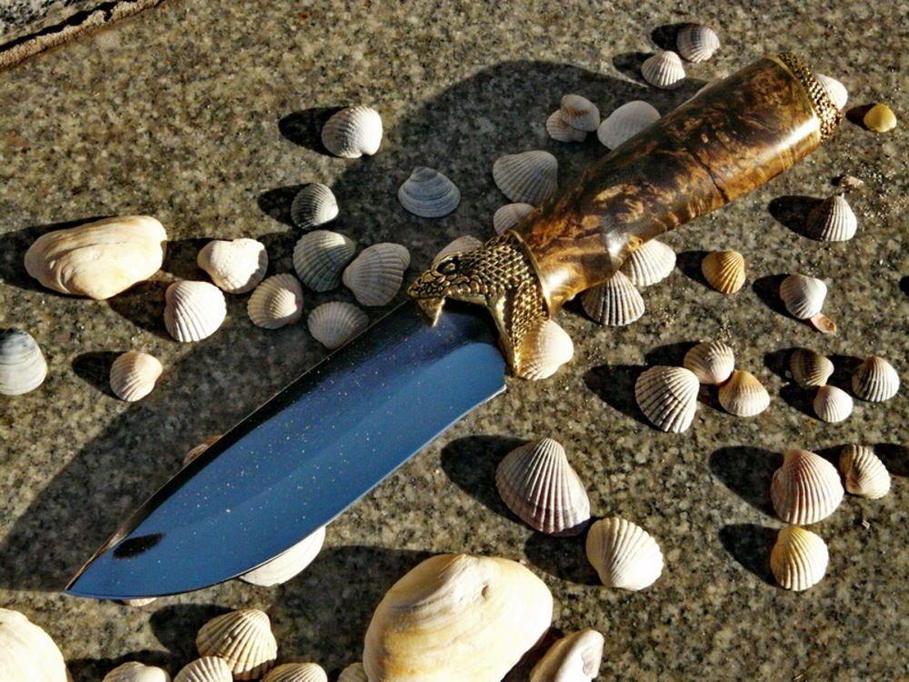 *SNAKE* Set Finger Guard & Knives Pommel German Silver Bolster for Custom Knife   eBay