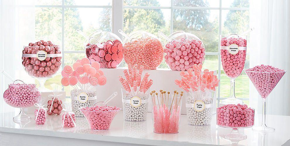 Pink Candy Light Pink Candy Buffet Supplies Light Pink Candy Candy Bar Wedding Pink Candy Buffet Candy Bar Birthday