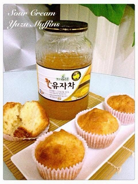Sour Cream Yuzu Muffins Ingredients Make About 14 Standard Sized Muffins A 220g Plain Flour Sifted 90g Sour Cream Muffins Cake Recipes