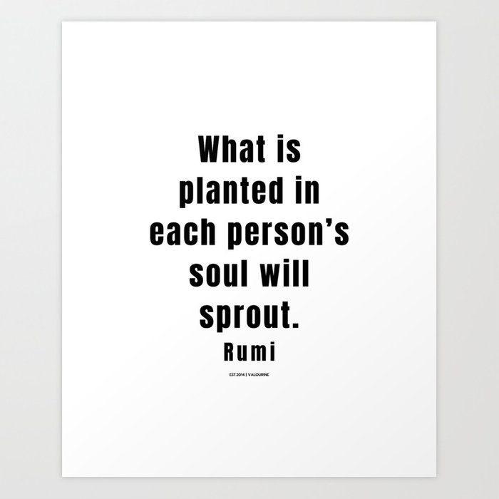 25 | Rumi Quotes | 210106| Poet Poem Sufi Literature Spiritual Mystic Wall Art Decor Art Print by Wordz
