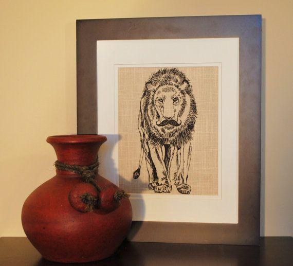 Wall hanging african art print kitchen animal lion decor whimsical also rh pinterest
