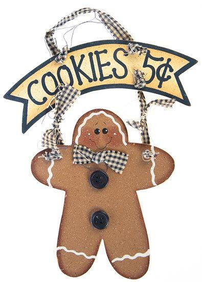Wooden Gingerbread Men Painted Wood Gingerbread Man Cookies 5