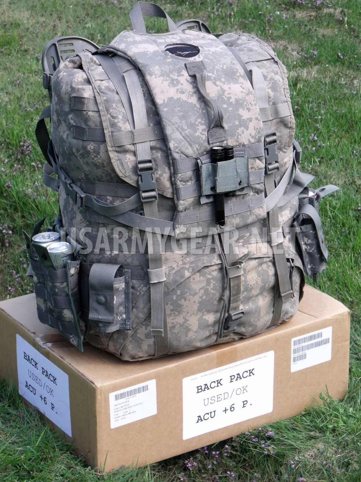 5ff254505cb9 Loaded US Army ACU Rucksack, Backpack – Frame, Belt, Straps, Hydration + 8  Pouch | US Army Gear
