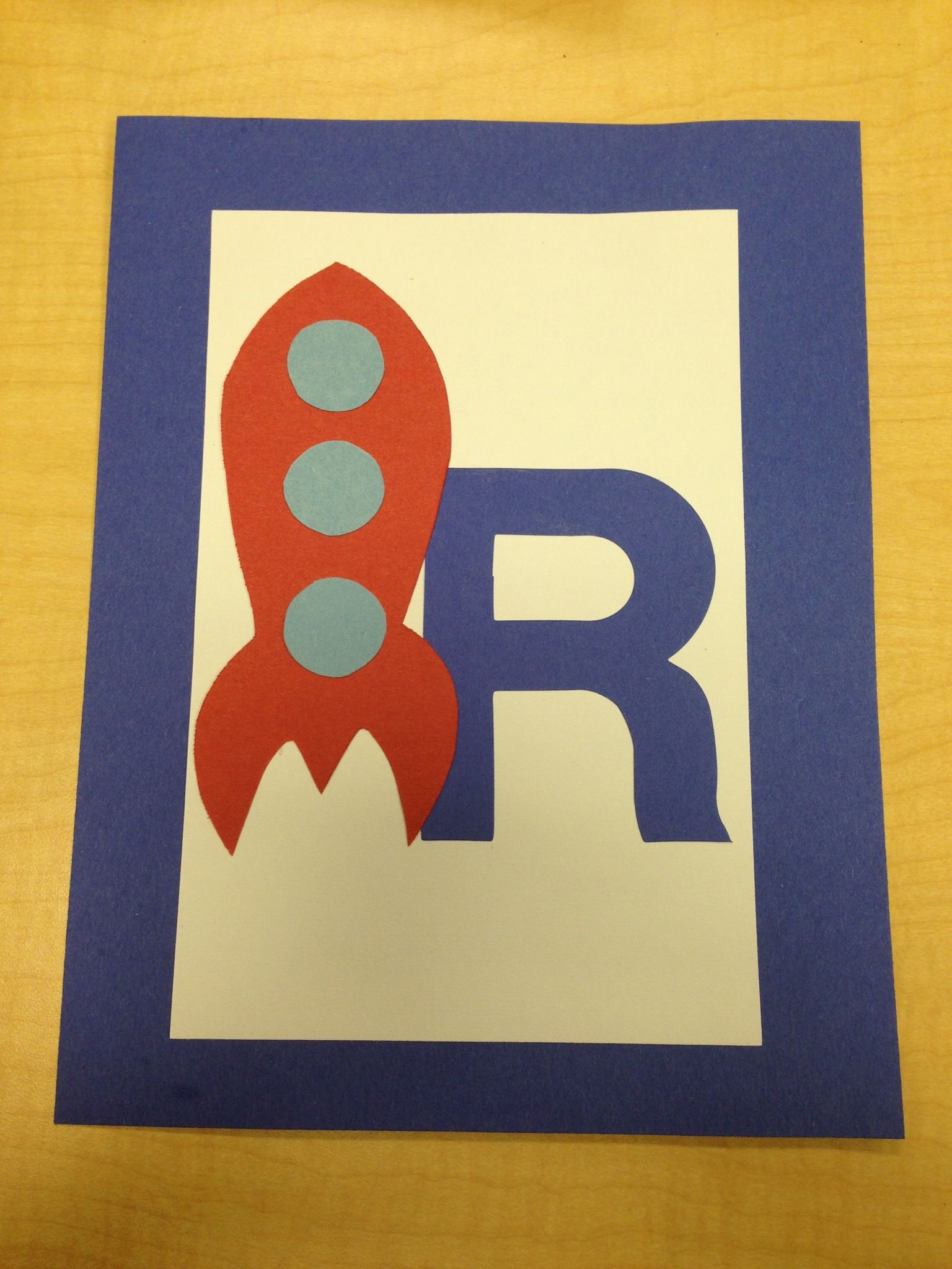 R Is For Rocket Preschool Alphabet Art