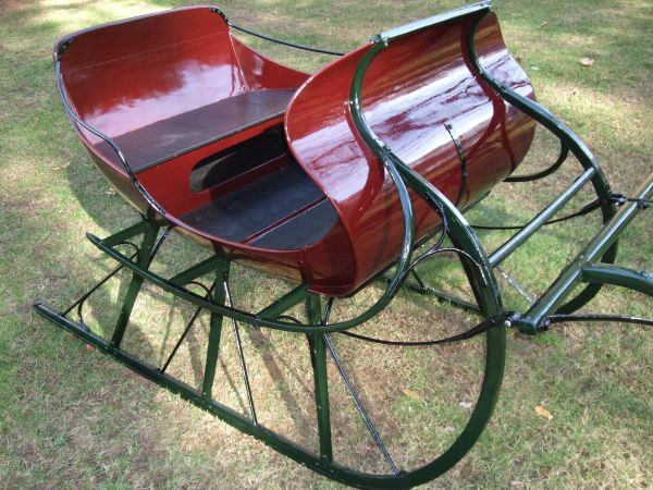 Antique Sleigh On Craigslist Vintage Sled Christmas Sleigh Birch Tree Decor Christmas